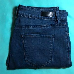 Dark Blue Mid Rise YMI Skinny Jeans